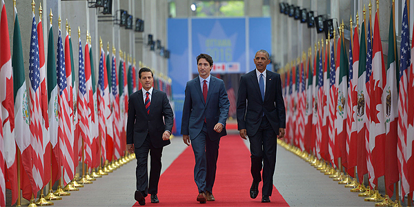 Latest North America Summit, with Presidents Peña Nieto and Obama, and Prime Minister Trudeau; Canada, June 2016