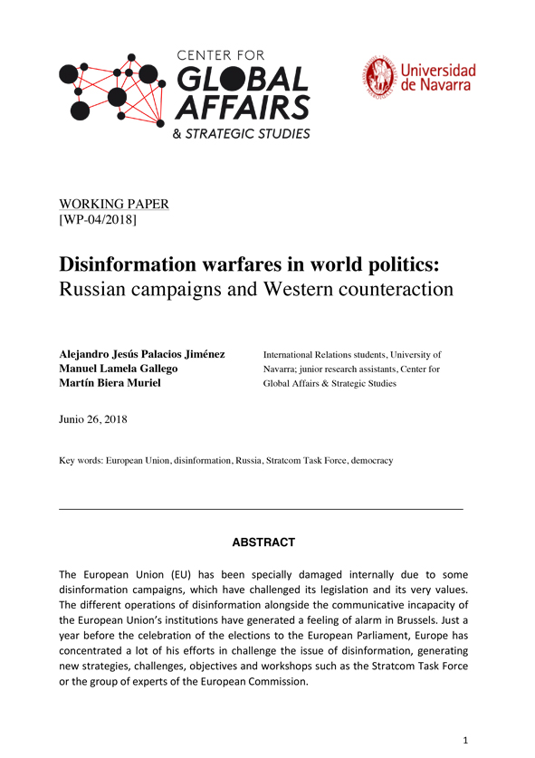 Disinformation warfares: Russian campaigns and Western counteraction