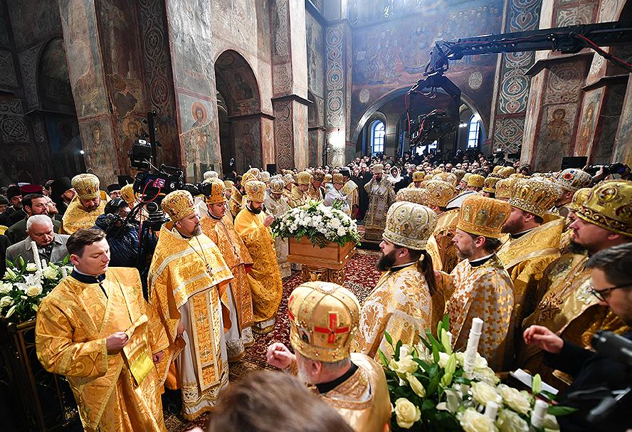Ceremonia de entronización del erigido patriarca de la Iglesia Ortodoxa de Ucrania