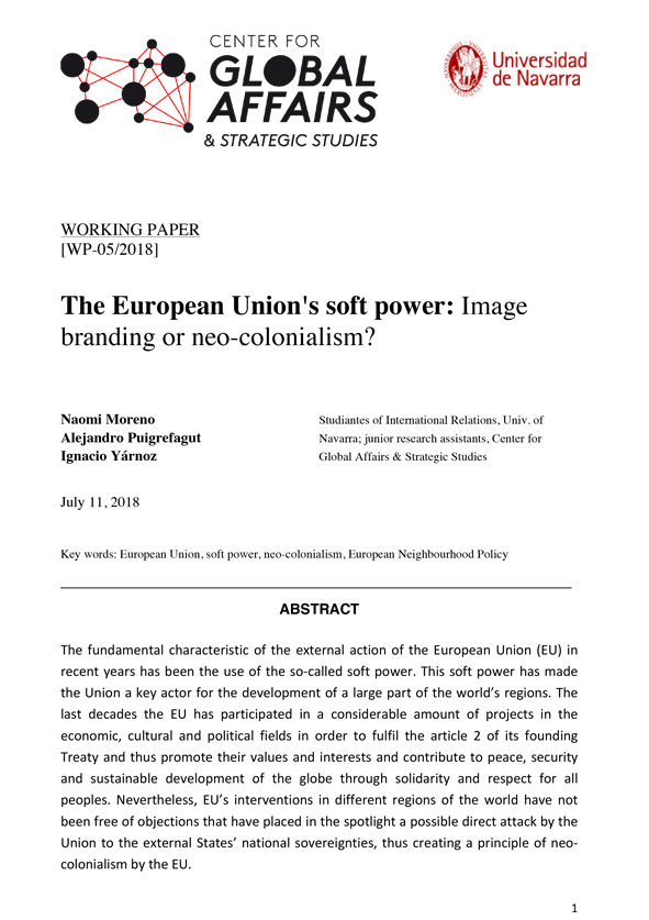The European Union's soft power: Image branding or neo-colonialism
