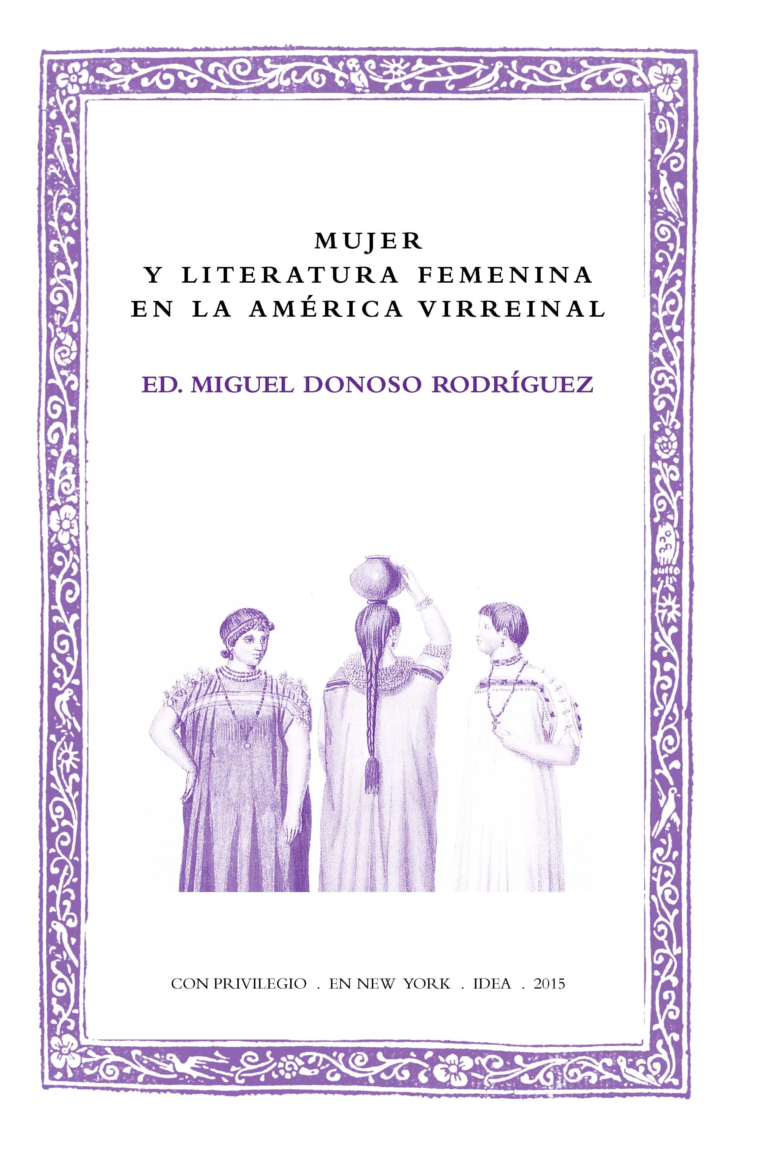 Batihoja 20. Mujer y literatura femenina en la América virreinal