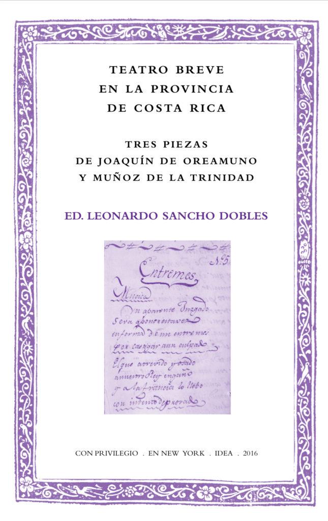 Batihoja 25. Teatro breve en la provincia de Costa Rica