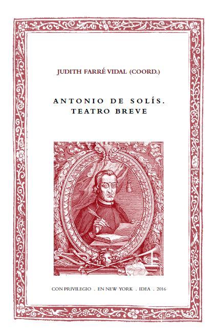 Batihoja 34. Antonio de Solís. Teatro breve