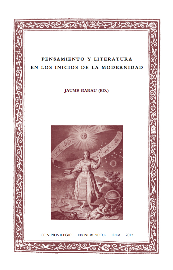 Batihoja 39. Pensamiento y literatura en los inicios de la modernidad