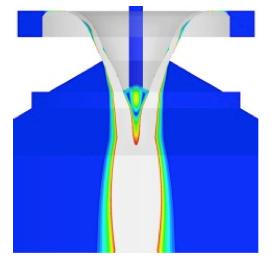 Subsonic velocity field