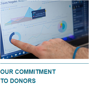 Our Commitment to donors