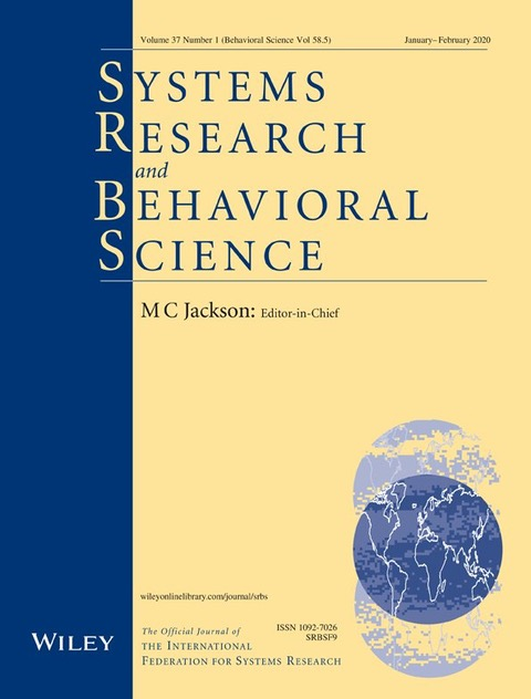 Systems Research and Behavioral Science