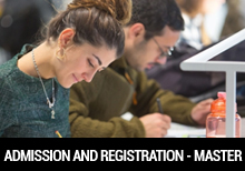Admission and Registration - Master