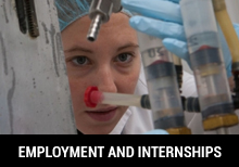 Employmente and Internships - School of Pharmacy and Nutrition