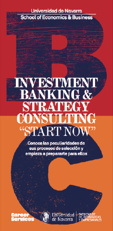 "Descargar folleto del evento Investment Banking & Strategy Consulting. ""Start Now"""