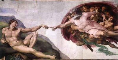Miguel Ángel. Creación del hombre